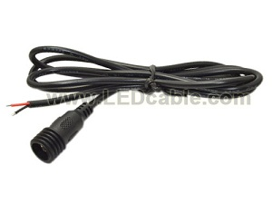 IP67 Waterproof DC Female Power Cable pigtial