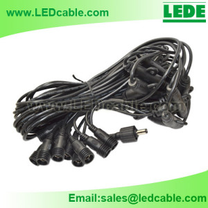 IP67 Waterproof DC Power Multiple T Connections Cable Kits