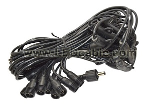 IP67 Waterproof DC Power Multiple T Connections Cable