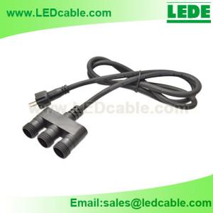WDC-13: Waterproof 3 Way Junction Splitter Cable Connector