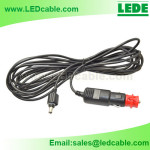 DC-19:Waterproof DC Power Lead with Car Cigarette Light Plug