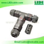 LWC-19:IP68 Waterproof Circular Cable T Connector