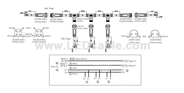 Waterproof Trailer Wiring Harness For Vehicle, Boat-Drawing