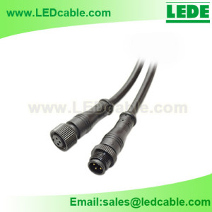WDC-14:Compact Type Waterproof Connector Cable with Metal Nut