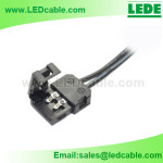 LSW-26:LED Strip Light Black Solderless Clip Connector Cable