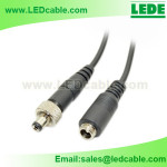 DC-25:Lock Design DC Power Cable with Metal Nut