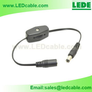 DC-26:DC Power Cable with Rotary Type Inline Switch