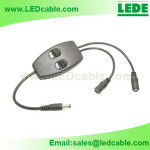 DC-28:LED Lighting Double On-Off Inline Switch