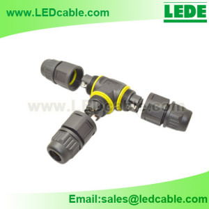 LWC-23:IP68 Waterproof T Splitter Connector