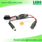 DC-32:DC Power Cable with Waterproof Mini Automotive Fuse Holder