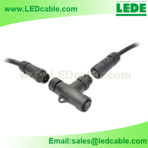 WDC-18:Waterproof T Connection Cable For Outdoor LED Lighting
