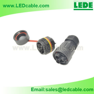 LWC-27:IP68 Waterproof Panel Mount Connector, Screw type
