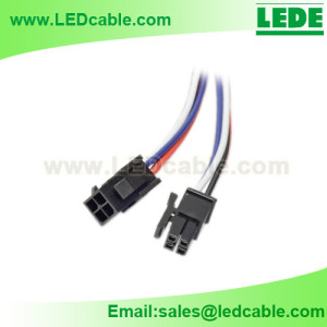 LSW-31:Molex 4 PIN Connector Cable Pigtail