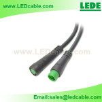 WDC-19:IP65 Push In Waterproof Connector Cable