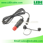 Waterproof Panel Mount Cable Kit for Vehicle Surveillance System