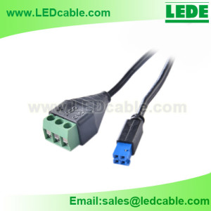 LSW-32: JST Connector to 3 PIN Terminal Block Adapter Cable