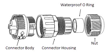 IP68 Waterproof Connector Installation Instruction For LWC-26 & LWC-27