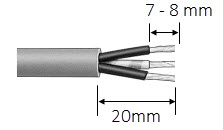 LWC-26 Waterproof Connector suggestion strip length