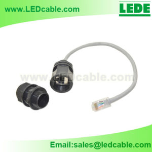 LWC-31: Waterproof RJ45 Enclosure Connector With Cable