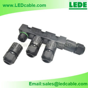 LWC-32: Waterproof F Type Splitter Connector For Outdoor LED Lighting