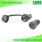 LWC-33: RJ45 Waterproof Connector with protective cap