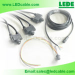 Waterproof 5 PIN 24 Y Splitter Cables For Outdoor LED Lighting Project