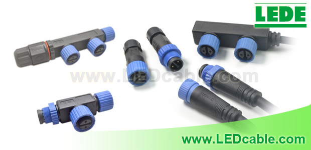 Waterproof Cable and Connector for LED Area and Street Lights