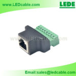 DC-11: RJ45 Female Socket to Terminal Block Connector
