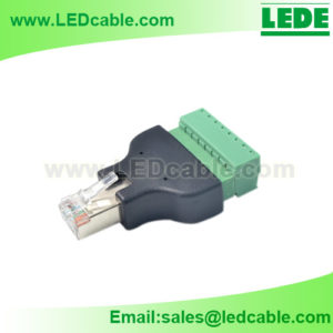 DC-12: RJ45 Male Plug to Terminal Block Connector
