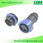 LWC-36: Waterproof Hybrid Power, Signal Connector for Outdoor LED Billboard