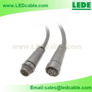 WDC-30: 5PIN Waterproof RGBW Connector Cable for LED Lights