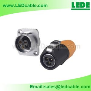 OLD-02: Push Pull Circular Waterproof Cable Connector For LED Display