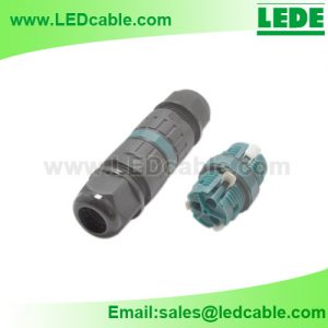 LWC-43: Screwless IP68 Waterproof Cable Connector