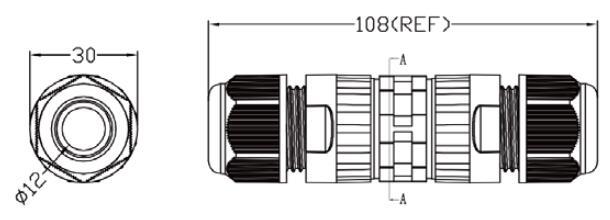 LWC-44: Waterproof Connector with Splicing Terminal Block