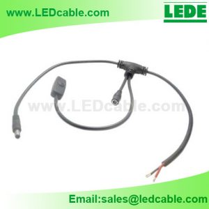 Customized T Connection Cable with Inline Switch