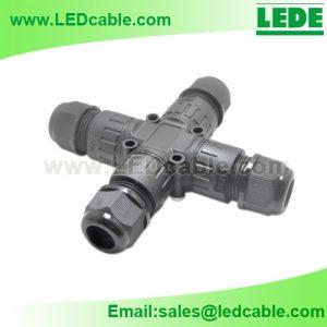 LWC-45: Waterproof X Type Splitter Connector