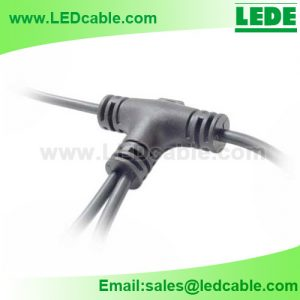 WDC-37: 2 Way Waterproof T Connection Cable