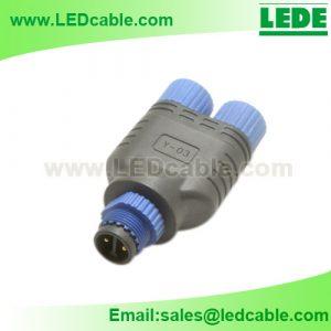 LWC-47: Waterproof Y Splitter Connector For LED Lighting