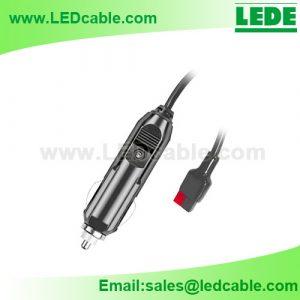 DC-49: Car Cigarette Lighter Plug to Anderson Power Pole Connectors Power Cable