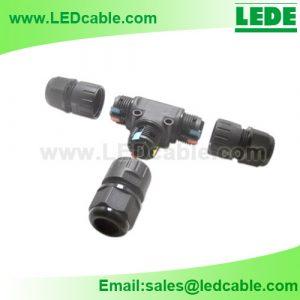 LWC-48:Screwless IP68 Waterproof T Connector